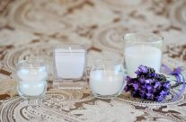 Candles in Glass containers